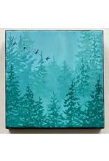 Alice Tersteeg Misty Trees (original) | Alice Tersteeg