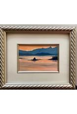 "Alice Tersteeg Alice Tersteeg ""Small Islands Sunset"" Original framed"