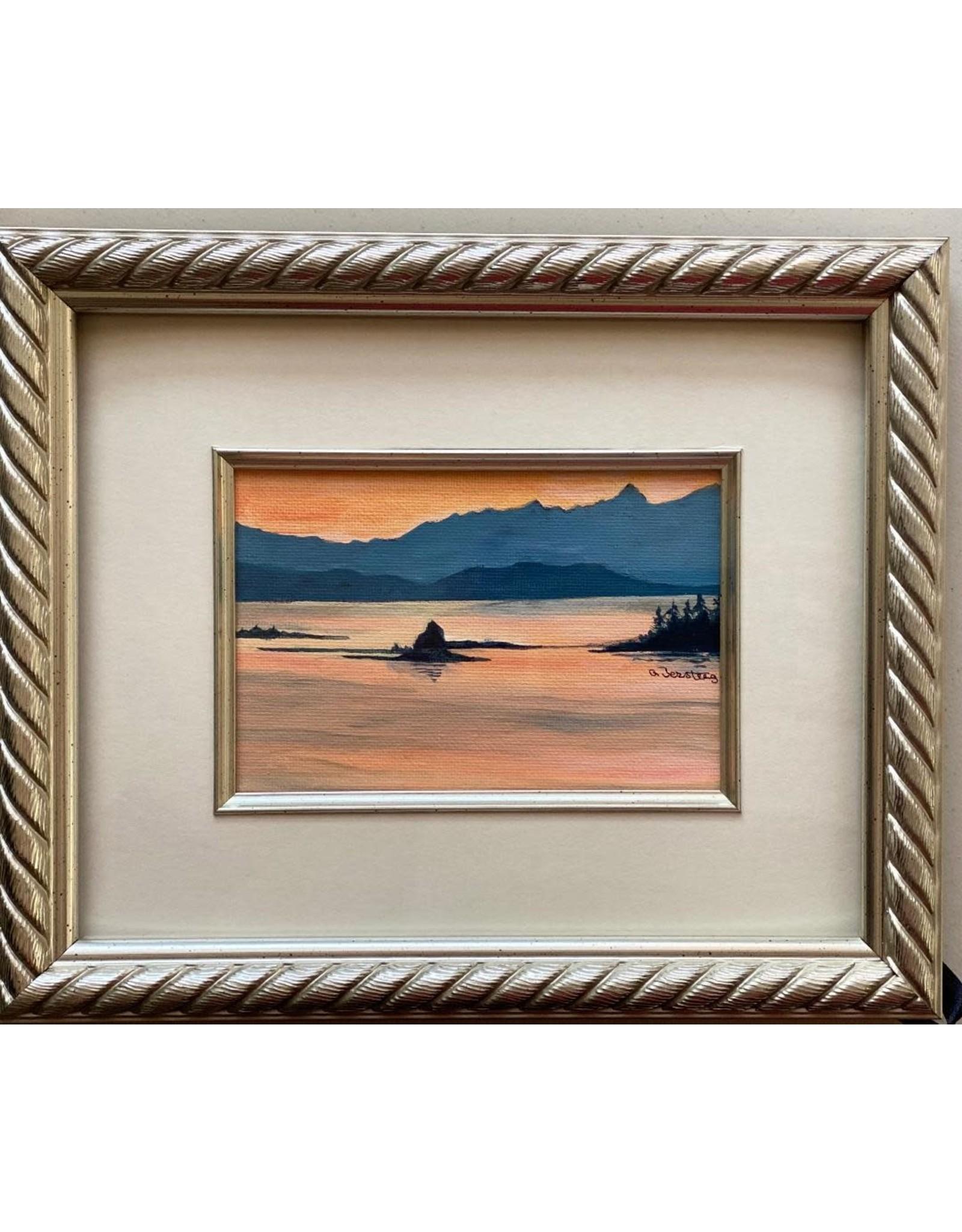Alice Tersteeg Small Islands Sunset (framed original) | Alice Tersteeg