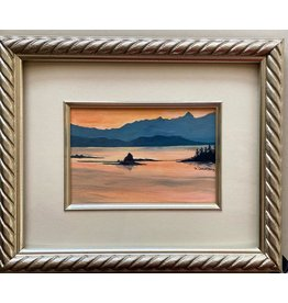 Alice Tersteeg Small Islands Sunset (framed original)
