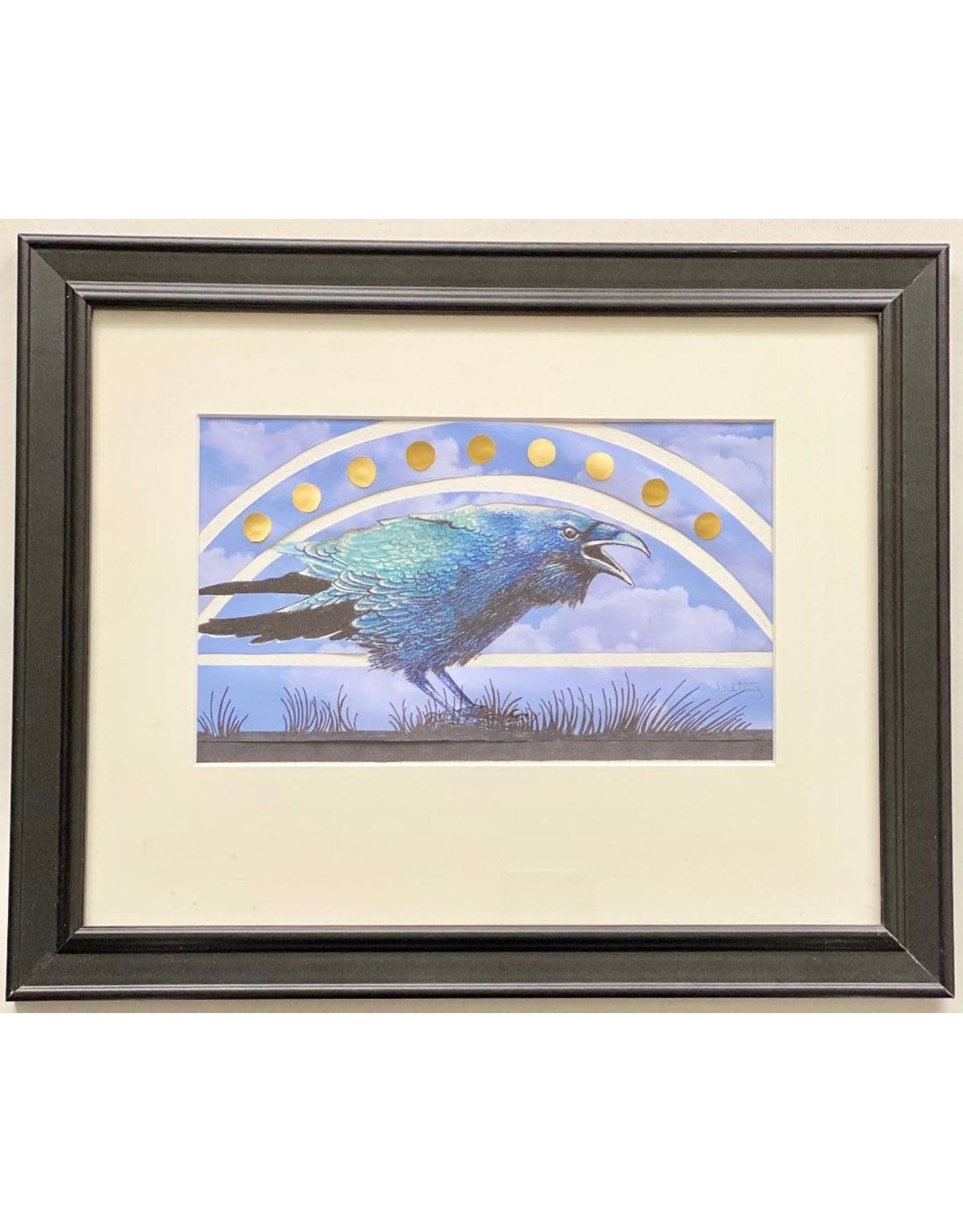 Alice Tersteeg Solstice Raven (framed original) | Alice Tersteeg