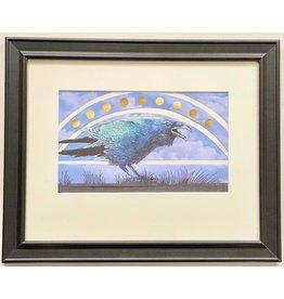 Alice Tersteeg Solstice Raven (framed original)