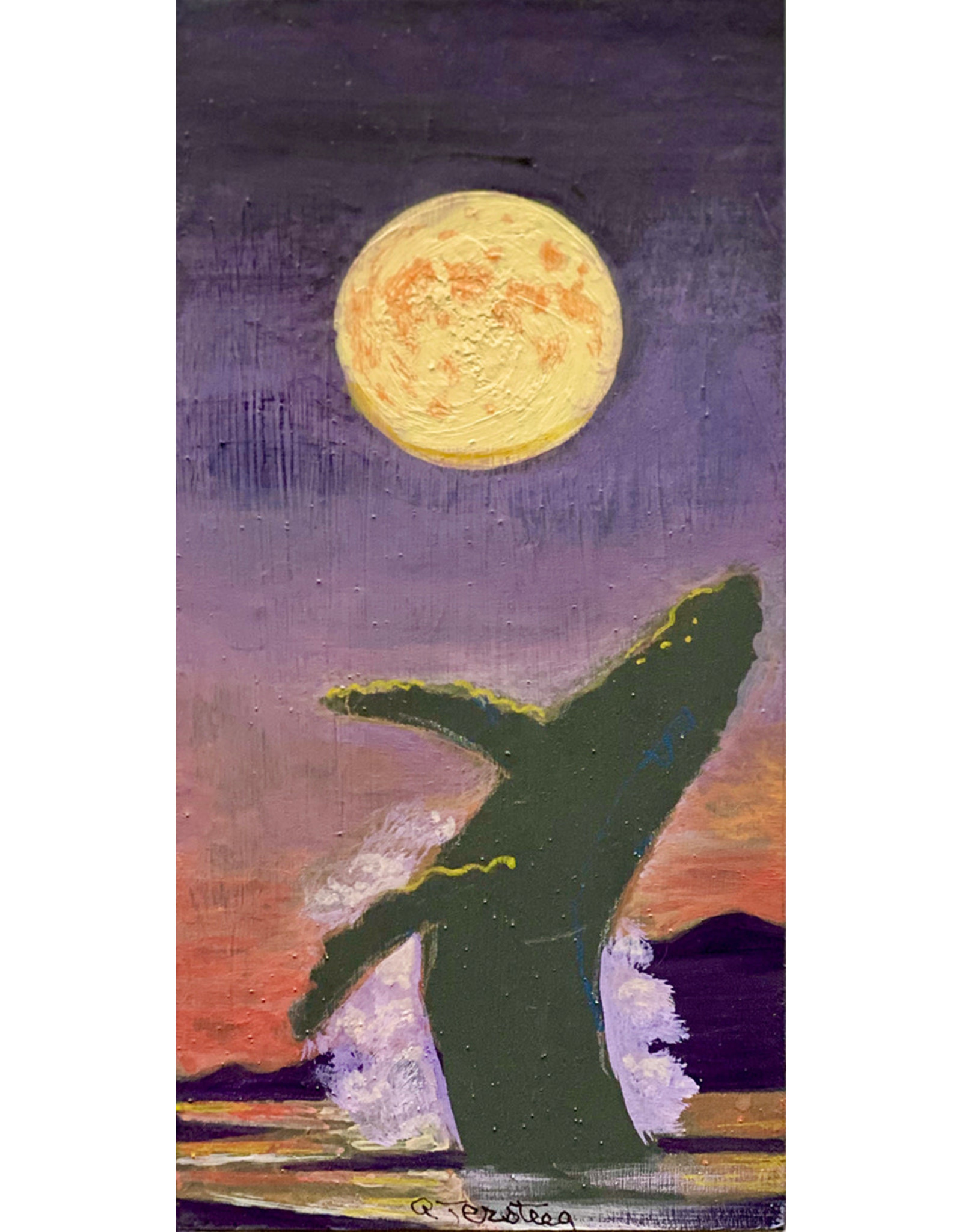 "Alice Tersteeg Alice Tersteeg ""Whale Moon"" Original"