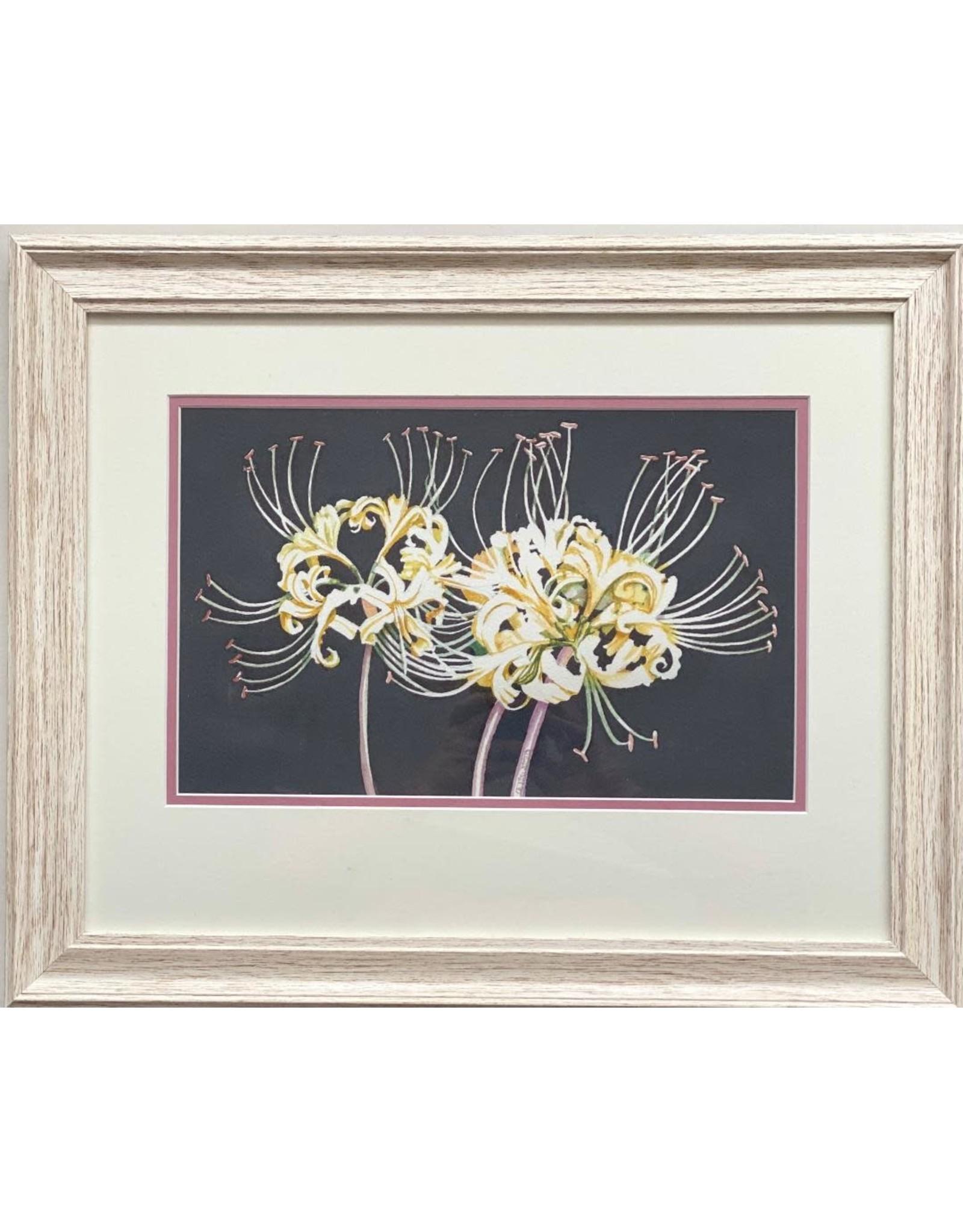 Alice Tersteeg White Spider Lily (framed original) | Alice Tersteeg