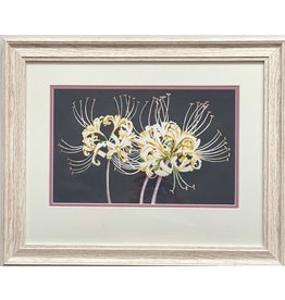 "Alice Tersteeg Alice Tersteeg ""White Spider Lily"" Original Watercolor framed"