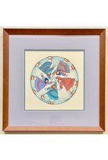 "Barbara Lavallee Barbara Lavallee ""Running In Circles"" Original Framed"