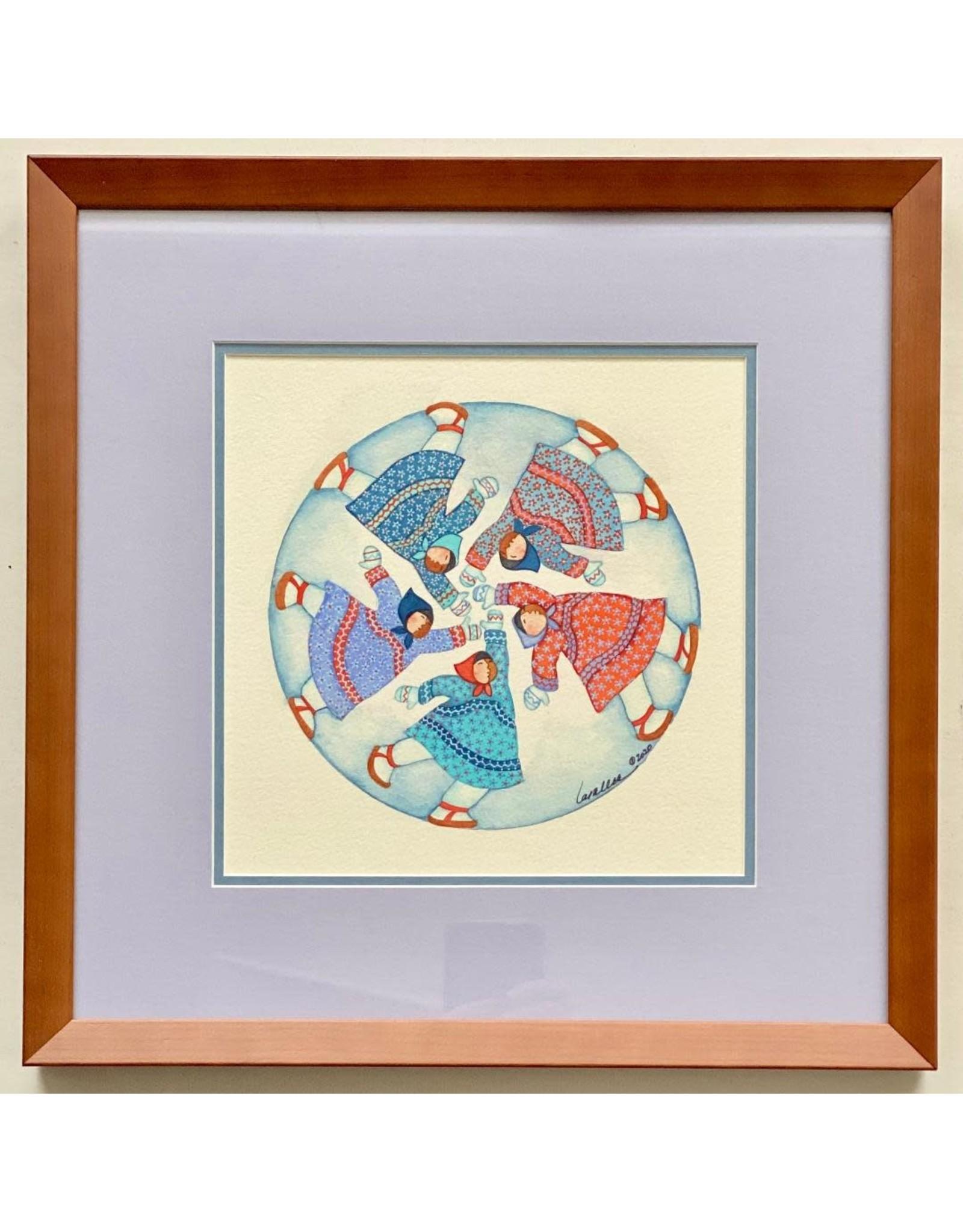 Barbara Lavallee Running In Circles (framed original) | Barbara Lavallee