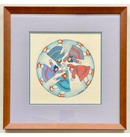 "Barbara Lavallee Barbara Lavallee ""Running In Circles"" Original Framed"