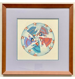 Barbara Lavallee Running In Circles (framed original)