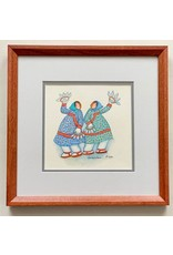 "Barbara Lavallee Barbara Lavallee ""Fan Dancer"" Original Watercolor framed"