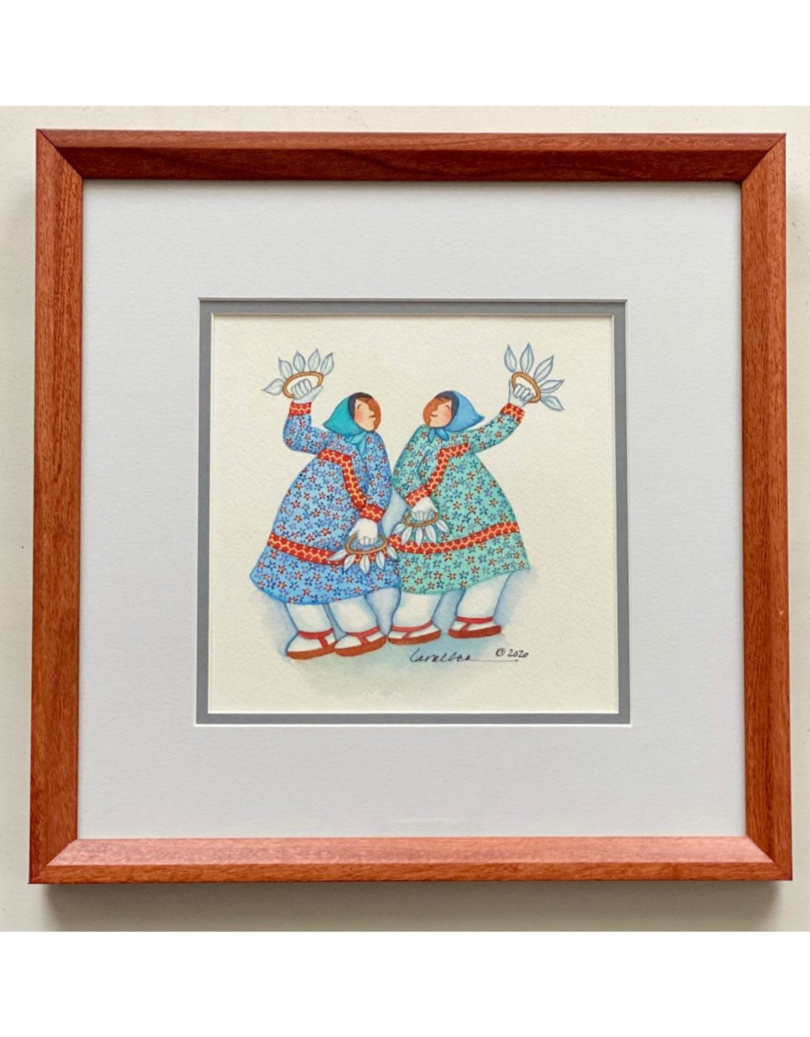 Barbara Lavallee Fan Dancer (framed original) | Barbara Lavallee