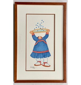 Barbara Lavallee Berry Bounce (framed original)