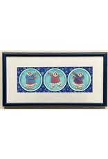 "Barbara Lavallee Barbara Lavallee ""Snow Globes"" Original Watercolor framed"