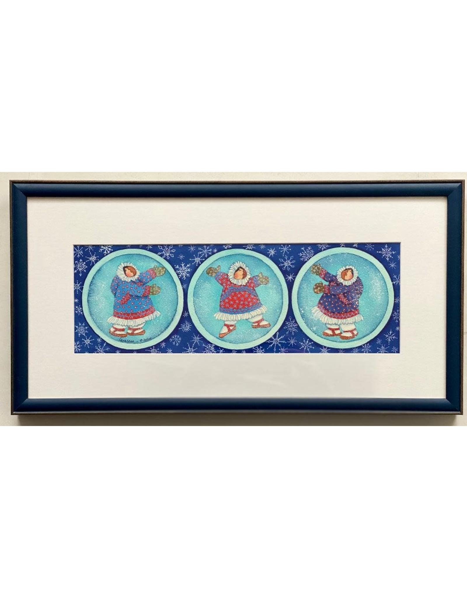 Barbara Lavallee Snow Globes (framed original) | Barbara Lavallee