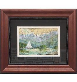 "Brenda Schwartz Brenda Schwartz Yeager ""Lena Beach"" Orginal Watercolor"