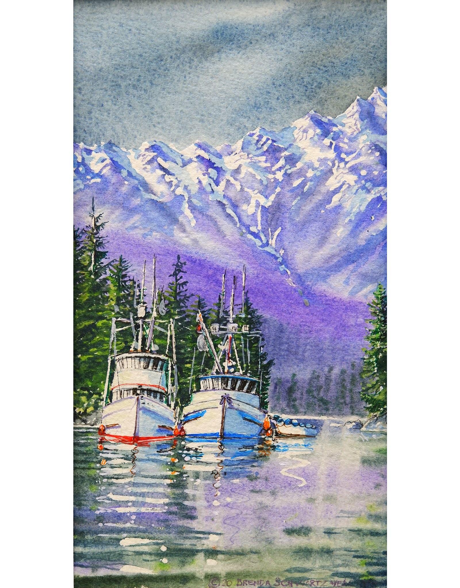 "Brenda Schwartz Yeager Brenda Schwartz Yeager ""Evening in Chatham"" Original Watercolor"