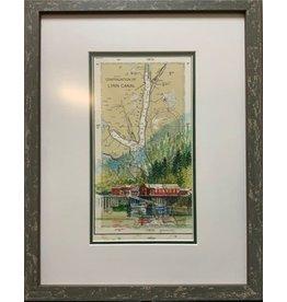 "Brenda Schwartz Yeager Brenda Schwartz Yeager ""Pitch Off!"" Original Watercolor"