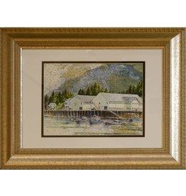 """Brenda Schwartz Yeager Brenda Schwartz Yeager """"Waterfall"""" Original Watercolor"""