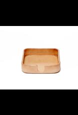 Graf Lantz Kobon Square Natural Leather Coaster Holder | Graf Lantz