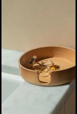 Graf Lantz Kobon Round Natural Leather Coaster Holder Graf Lantz
