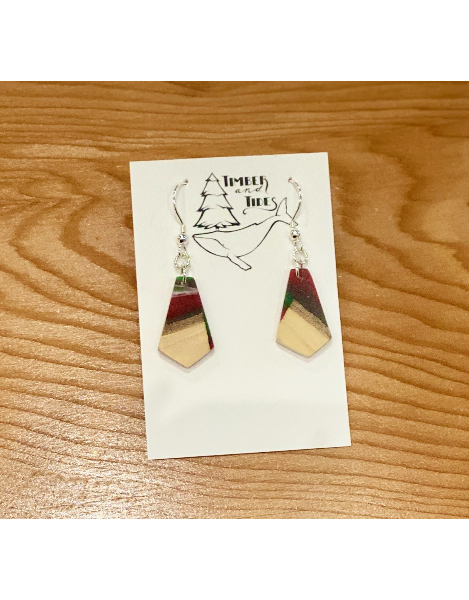 Timber and Tides Resin & Christmas Tree Earrings (21-34) | Tmber & Tides