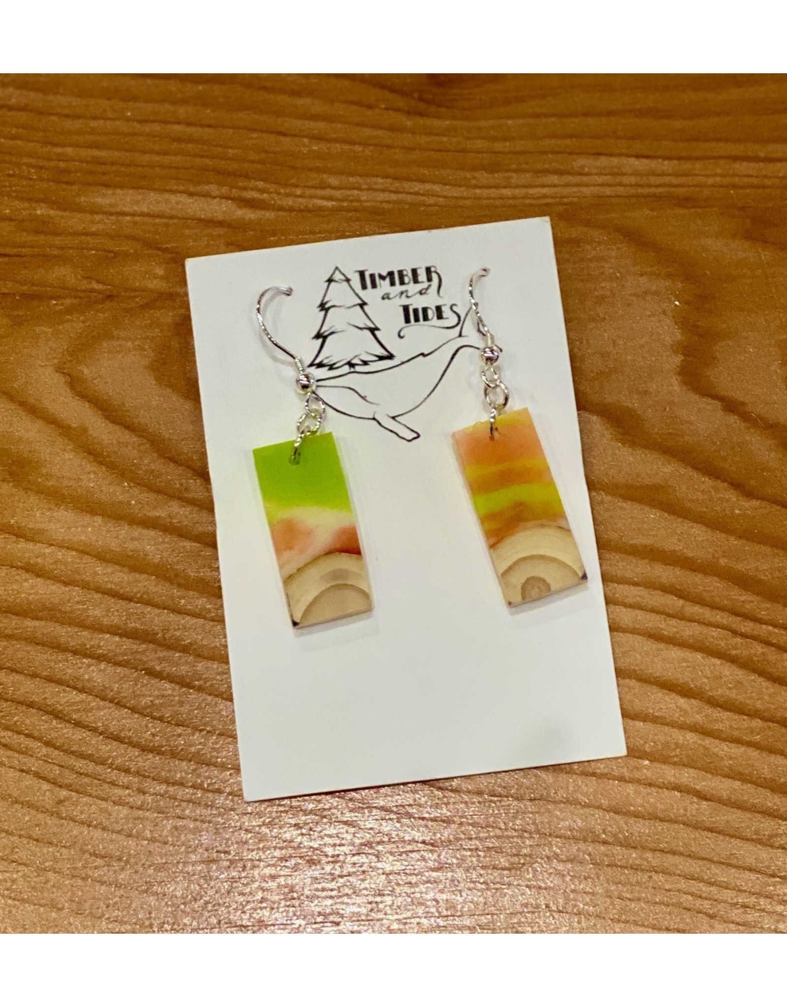 Timber and Tides Resin & Christmas Tree Earrings  | Timber and Tides (21-41)