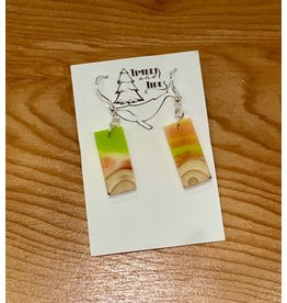 Timber and Tides Resin & Christmas Tree Earrings