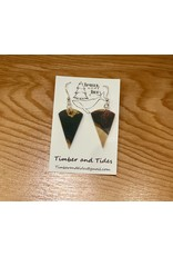 Timber and Tides Resin & Driftwood Earrings (21-37) | Timber & Tides