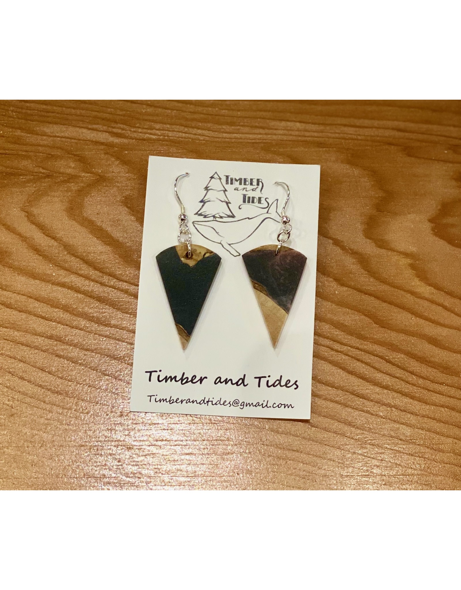 Timber and Tides Timber & Tides Resin & Driftwood Earrings 21-37