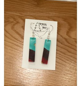 Timber and Tides Timber & Tides Resin & Purple Heart Earrings 21-39