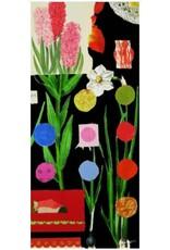 Smilow + Mathiesen Black Botanical Red Scarf | Pamela Smilow