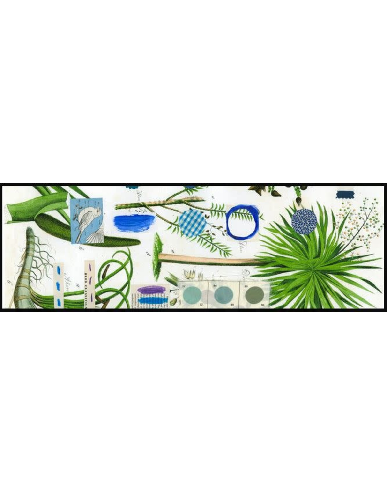 Smilow + Mathiesen Blue Botanical Runner   Pamela Smilow