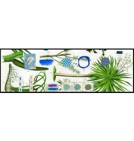 Smilow + Mathiesen Blue Botanical Runner