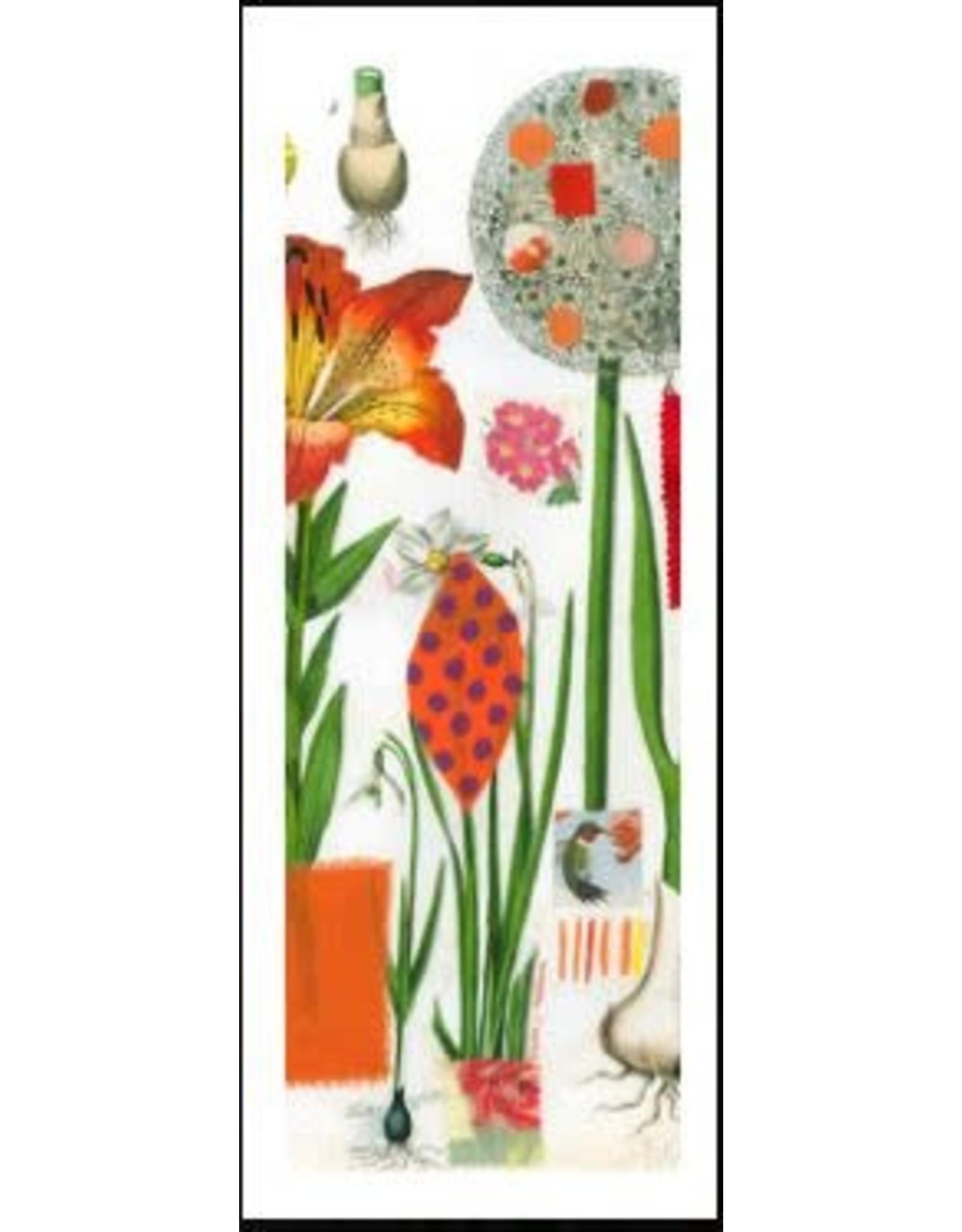 Smilow + Mathiesen Orange Botanical Scarf | Pamela Smilow