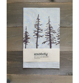 Printworthy Arts Spruce Trees Tea Towel