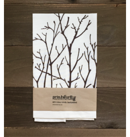 Printworthy Arts Birch Branches Tea Towel