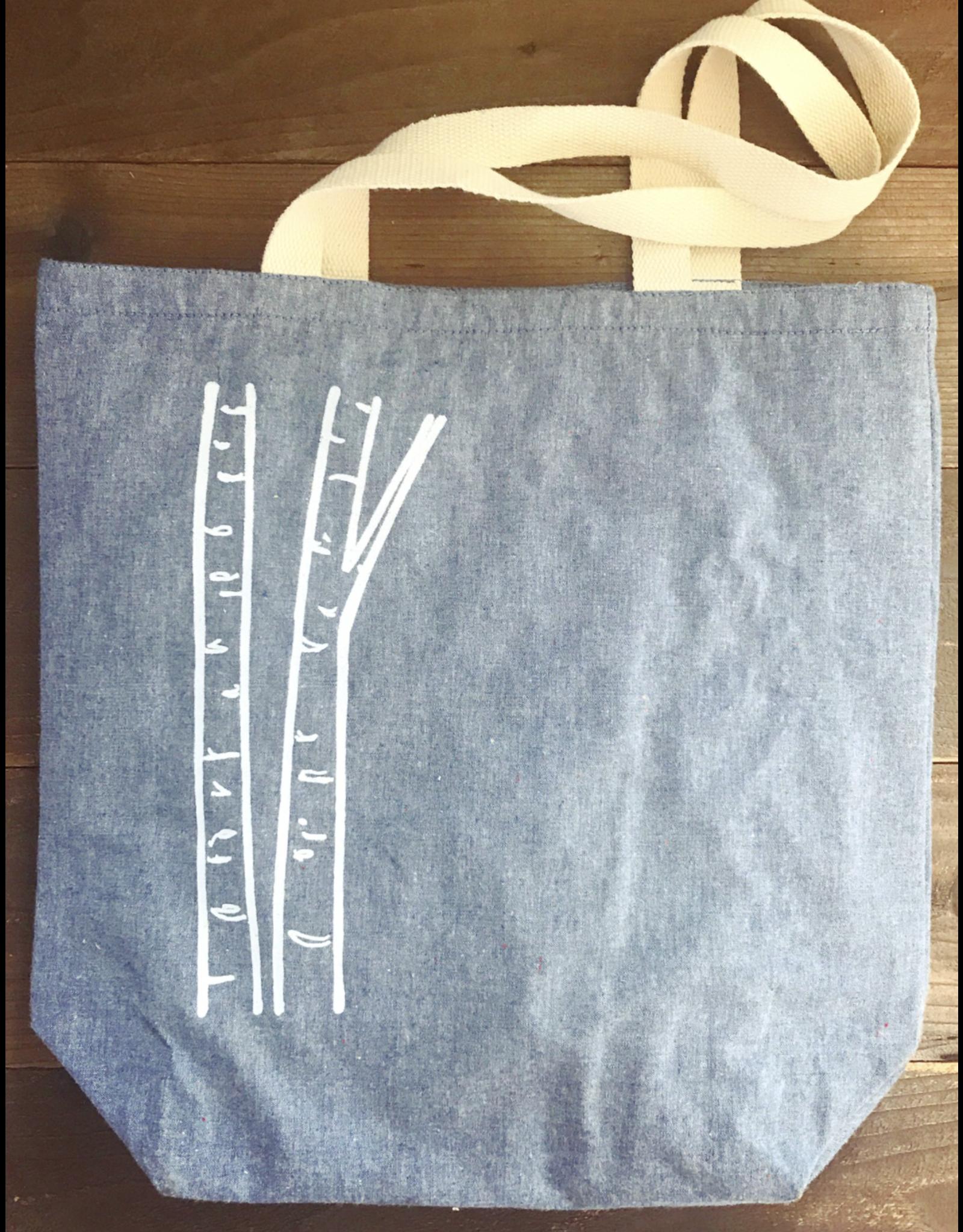 Printworthy Arts Tote Bag Birch Trees   Macy Possenti