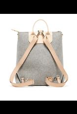 Graf Lantz Bedford Backpack Granite felt, Natural Leather | Graf Lantz