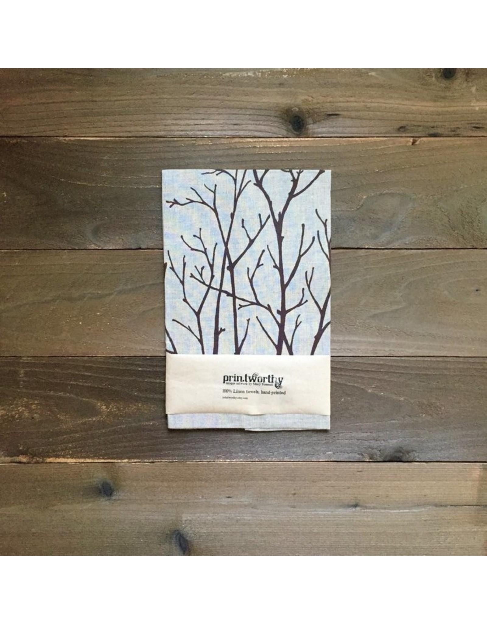 Printworthy Arts Birch Branches Tea Towel | Macy Possenti