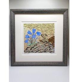 """DogwoodStudioAlaska """"Hare Bell, Mouse"""" (Framed)"""