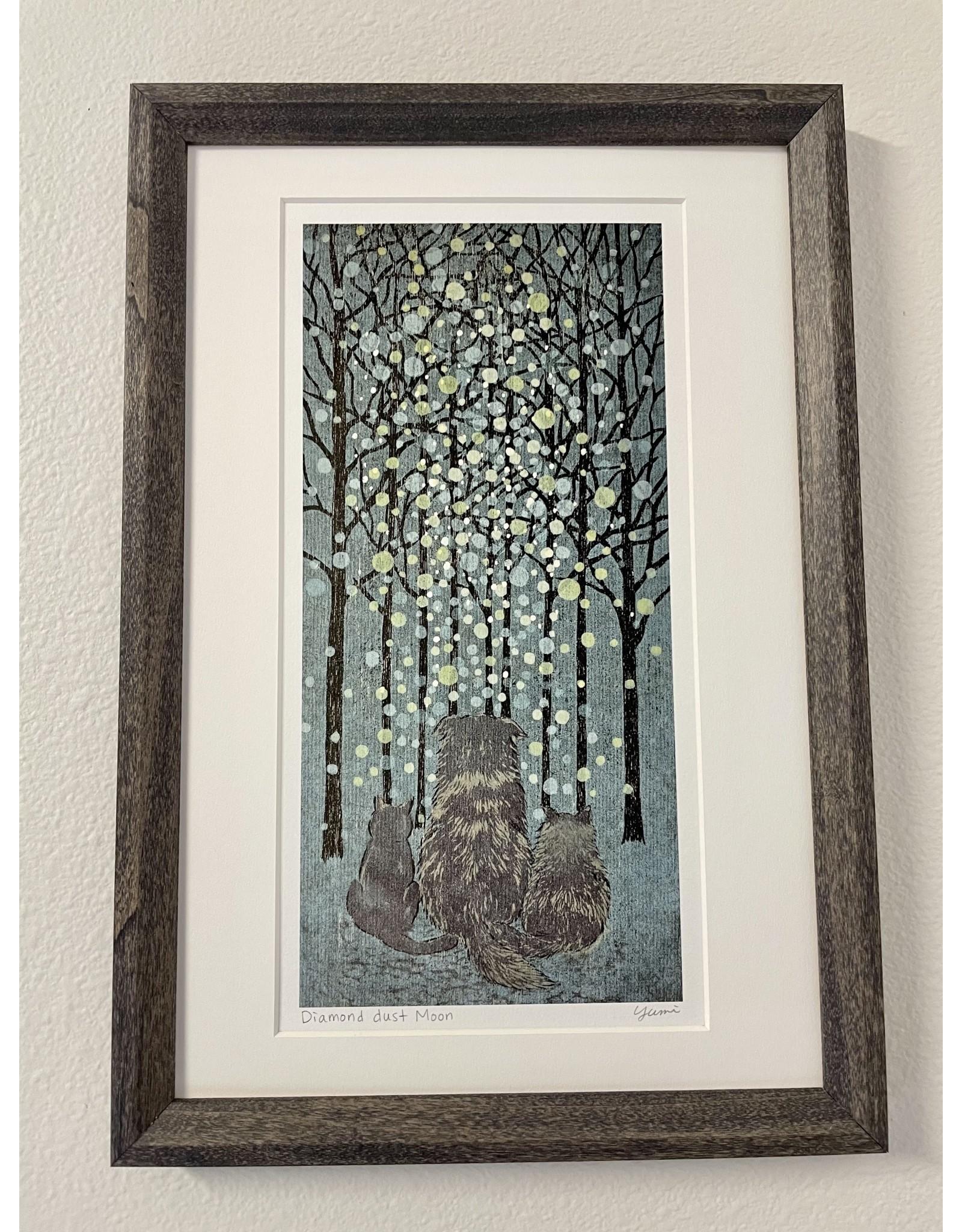"DogwoodStudioAlaska ""Diamond Dust Moon"" (Framed) | Yumi Kawaguchi"