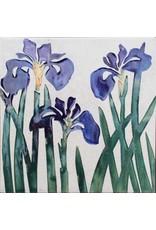 Brecht Studio Tile Trivet (wild Irises)   Brecht Studio