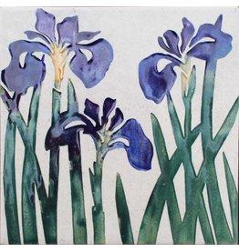 Brecht Studio Tile Trivet (wild Irises)