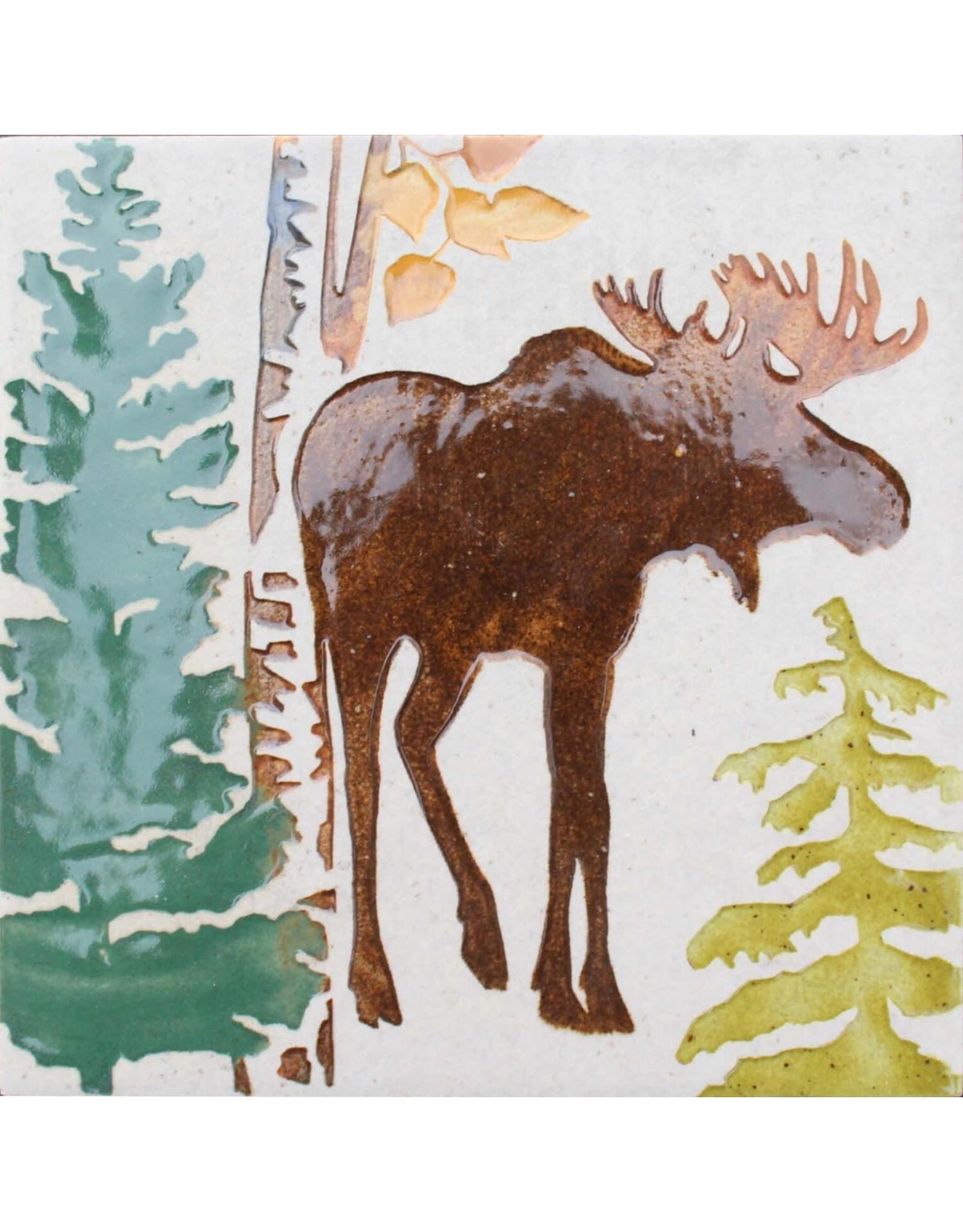 Brecht Studio Tile Trivet (bull moose) | Brecht Studio