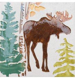 Brecht Studio Tile Trivet (bull moose)