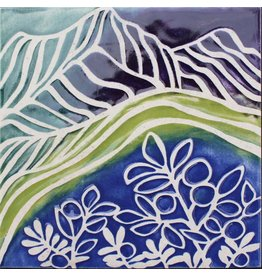 Brecht Studio Tile Trivet (blueberry meadow)