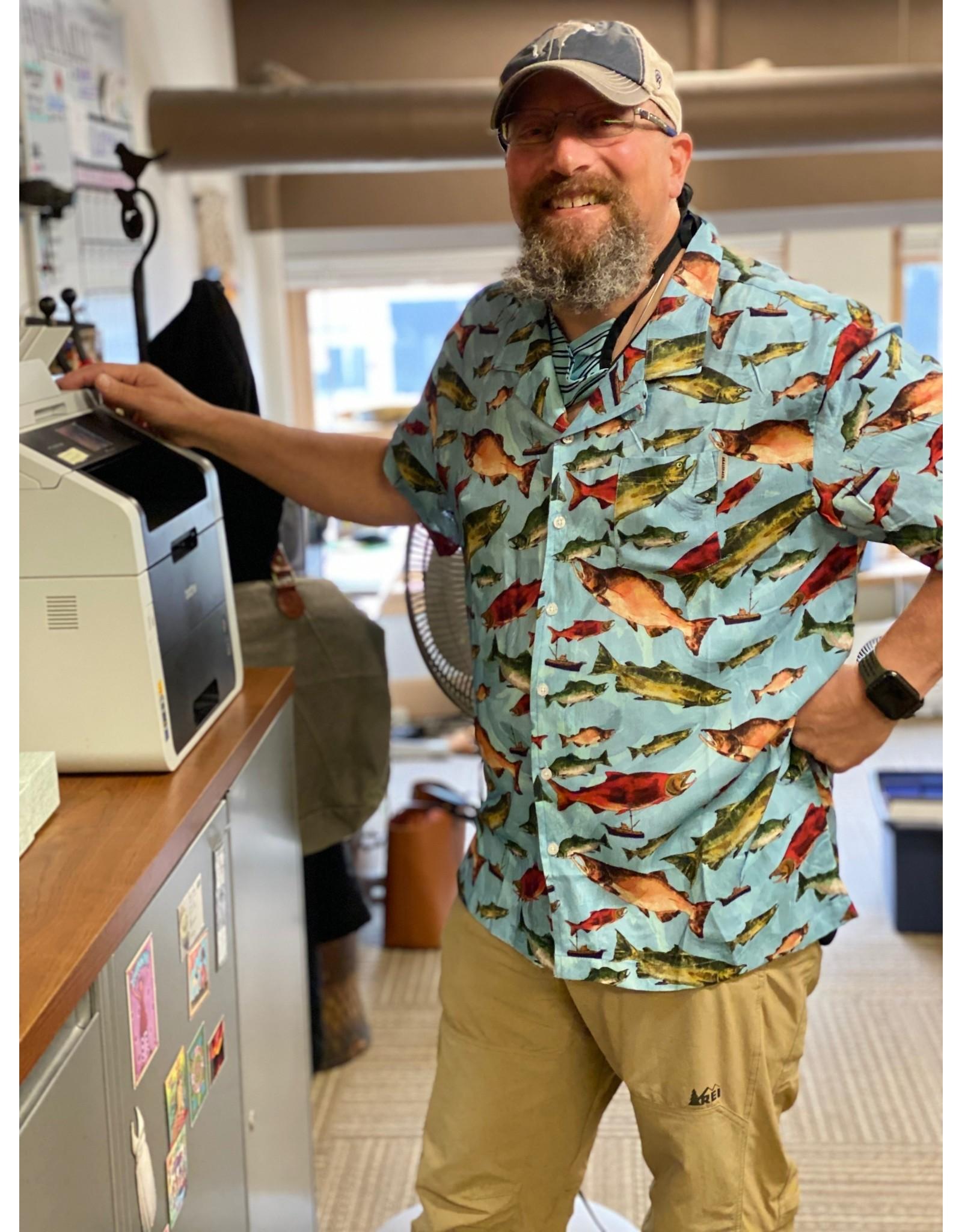 AK Aloha Salmon | AK Aloha Co. Shirt