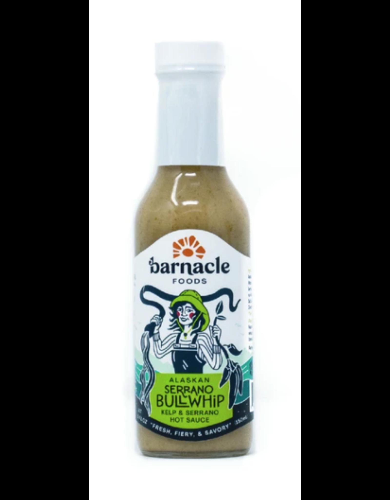 Barnacle Foods Serrano Bullwhip Hot Sauce | Barnacle Foods