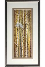Courtenay Birdsall-Clifford Birch Perch for Two (framed original) | Courtenay Birdsall-Clifford