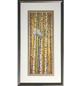 Courtenay Birdsall-Clifford Birch Perch for Two (framed original)